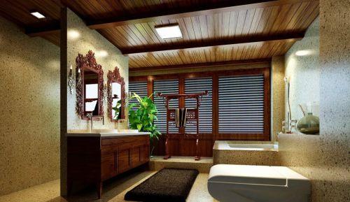东南亚卫生间浴室柜装修图片