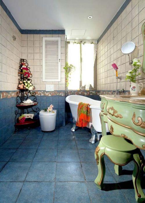 93平老房翻新别样东南亚风格浴室