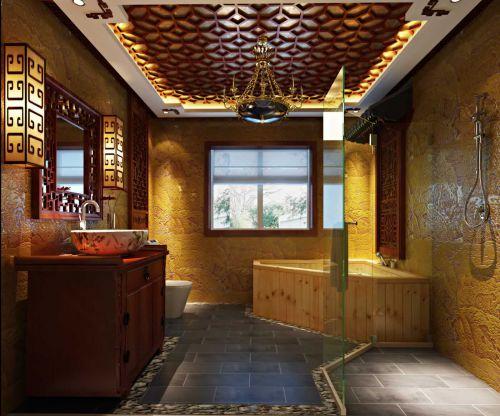 东南亚风格三居室卫生间设计效果图