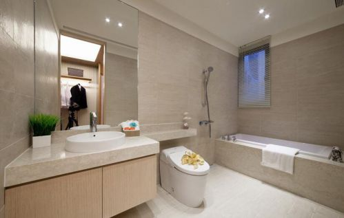 日式风格现代浴室装修效果图展示