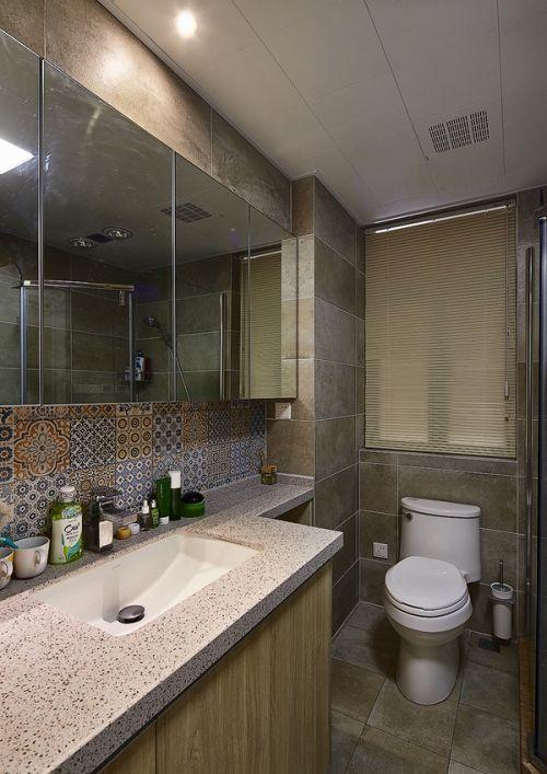 清新文艺混搭风公寓卫生间装修效果图