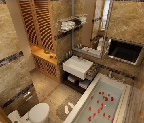日式三居卫生间图片