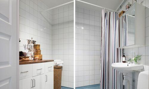 北欧文艺二居设计卫生间图