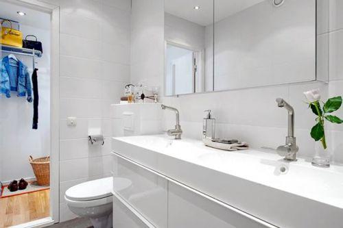 北欧翻新公寓卫生间面盆图片