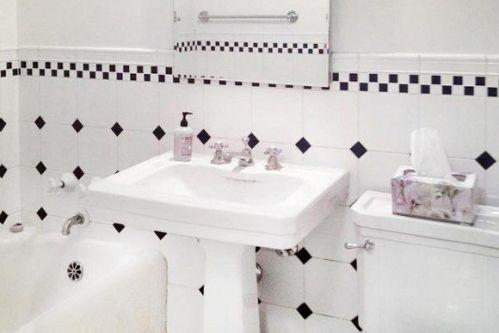 北欧风格白色卫生间效果图