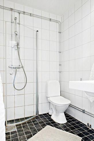 清爽北欧风格公寓卫生间图片