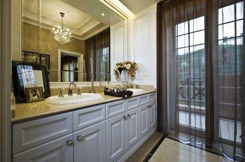 清透明亮卫生间洗手台设计
