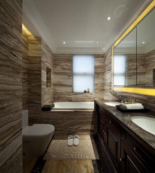 89平美式新古典浴室设计