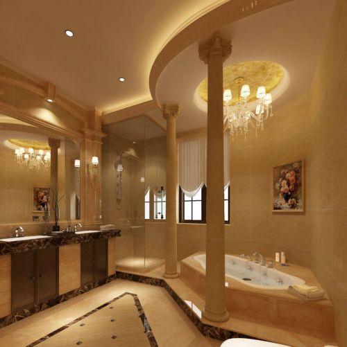 邛崃自建新古典风格别墅浴室设计