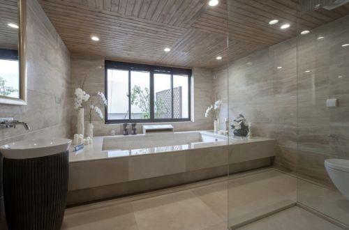新古典时尚别墅卫生间浴缸图片