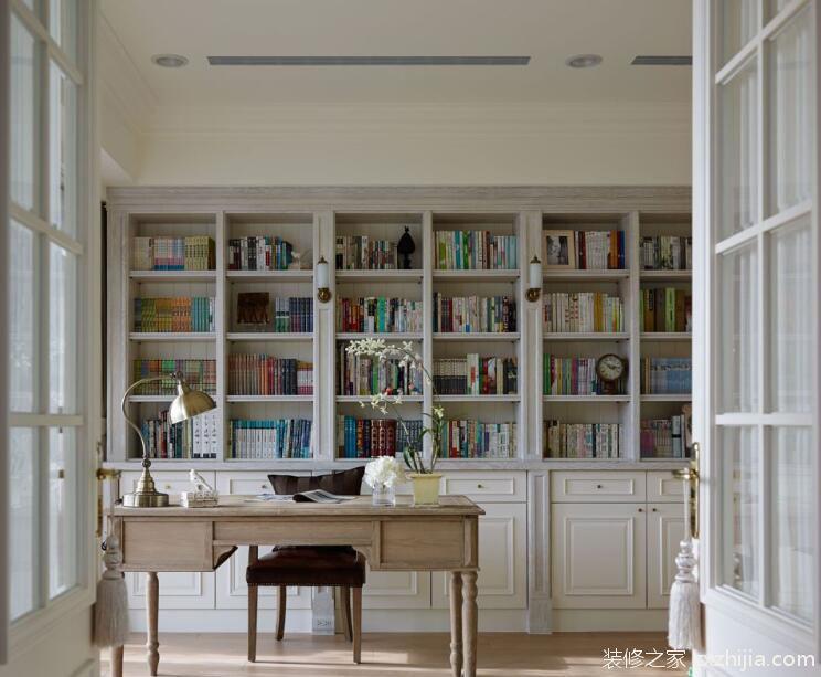 最新简约书房书柜隔断效果图图片