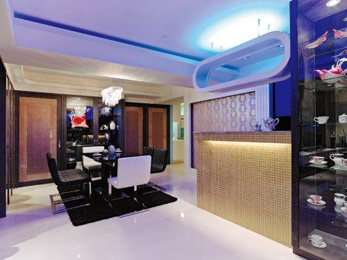 65平米简约风格公寓餐厅吧台设计
