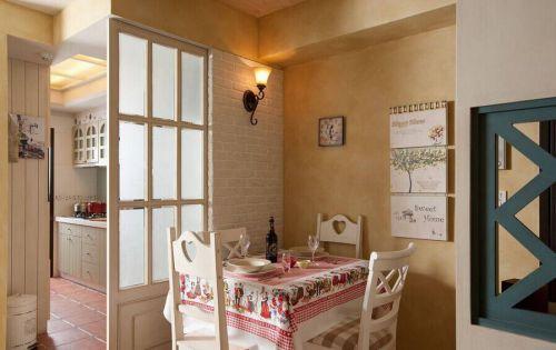 83平米舒适美式风格餐厅隔断装修效果图
