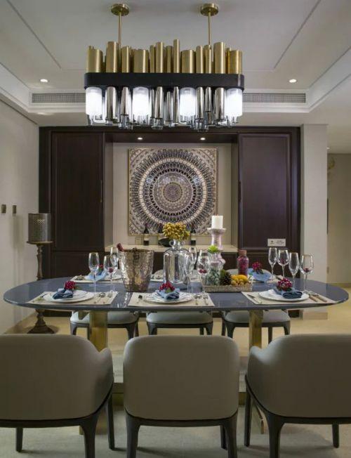 美式风格家庭餐厅吊灯图片