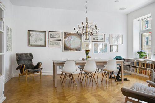 斯德哥尔摩公寓餐厅照片墙