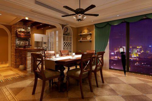 108平美式风格餐厅装饰效果图