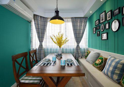美式绿色餐厅设计