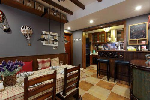 美式乡村风格餐厅吧台设计