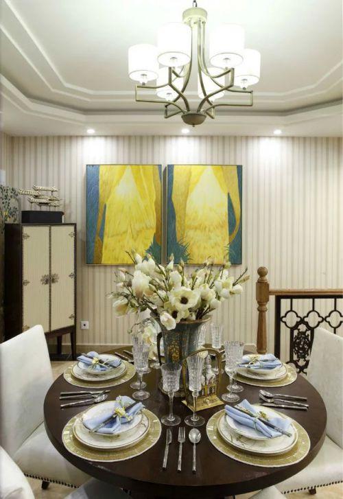 美式风格家装餐厅吊顶效果图