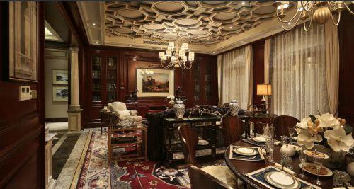 美式新古典餐厅客厅图片
