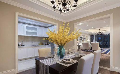 美式风格餐厅厨房设计图片