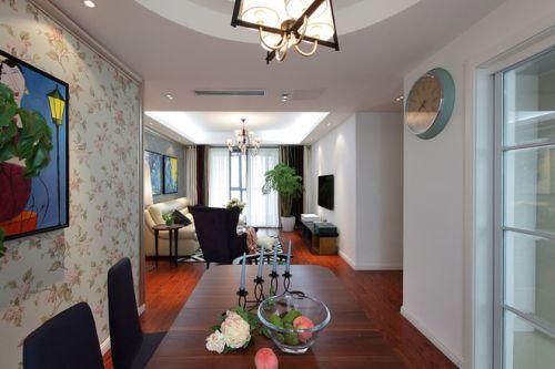 123平米田园风格餐厅餐桌效果图
