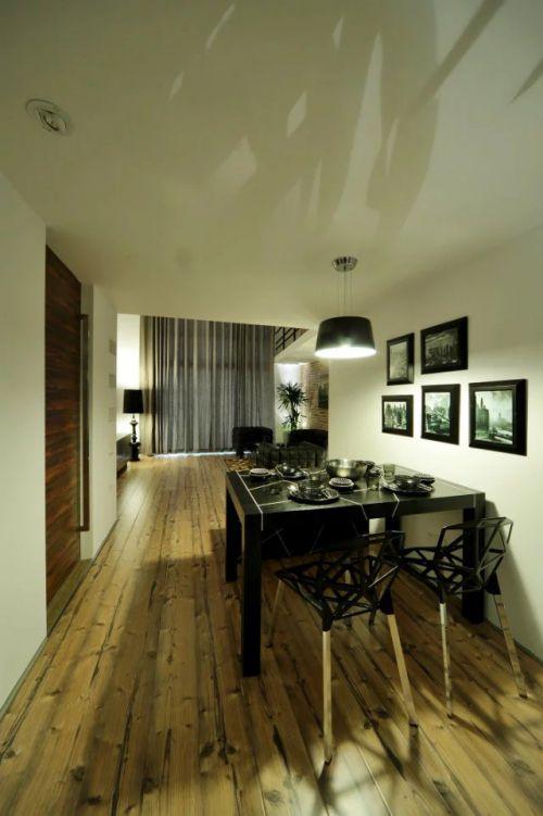 混搭风格餐厅照片墙装修效果图