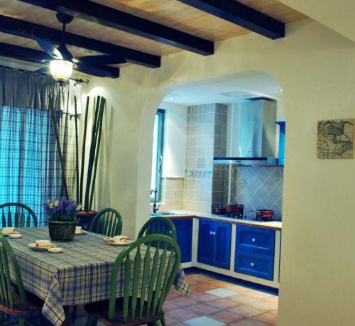 101平地中海风格餐厅厨房隔断设计