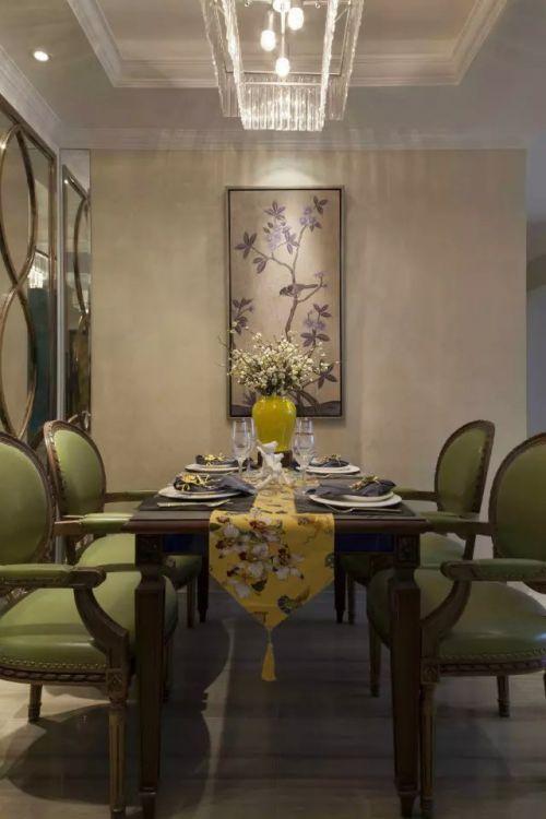 混搭餐桌照片墙装修效果图
