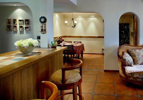 舒适地中海餐厅客厅隔断效果图