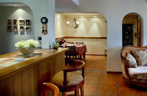时尚地中海风格餐厅吧台设计