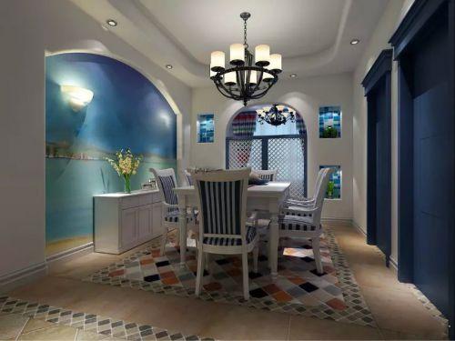 时尚地中海风格舒适餐厅设计