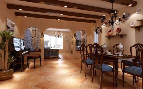 2015欧式地中海餐厅吊顶装修