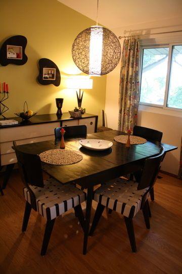 97平米温馨混搭风格餐厅餐桌效果图展示