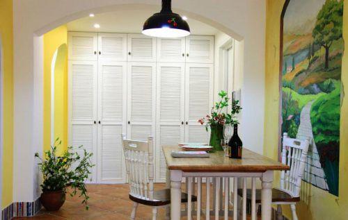 温暖地中海两居餐厅餐桌图片