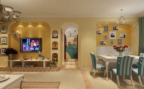 18万打造地中海风格室内餐厅效果图片