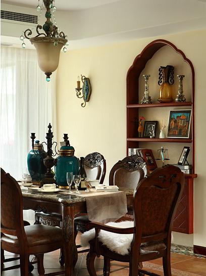 地中海风格室内餐厅效果图