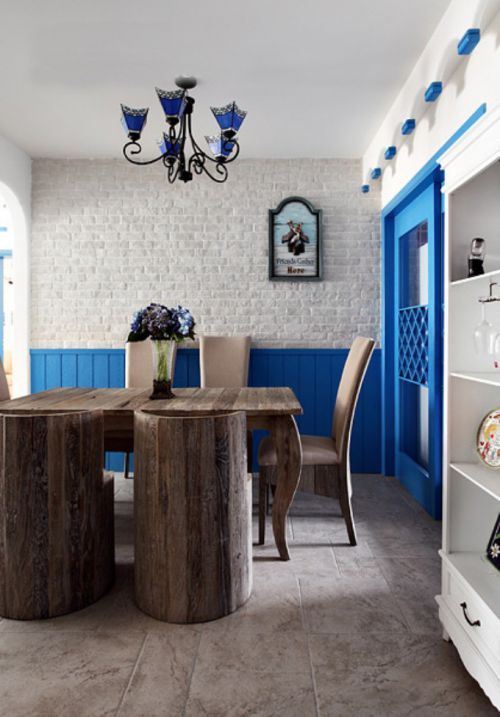 地中海风格家居餐厅图片2015