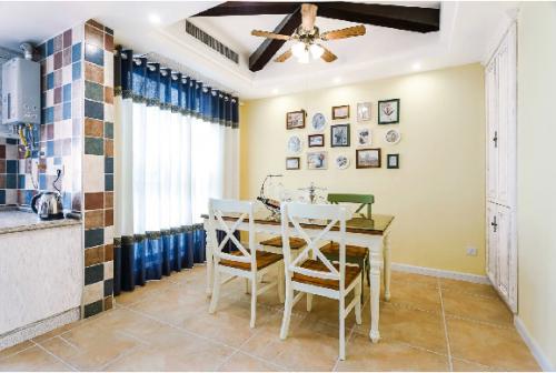 二居室地中海婚房餐厅图片