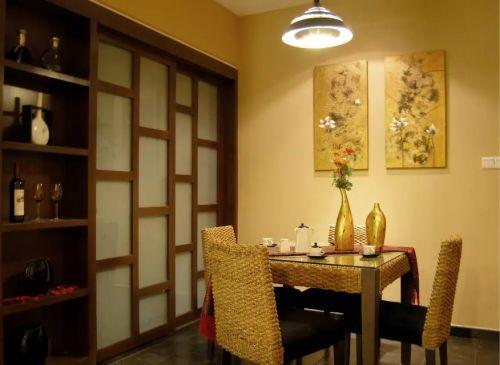 东南亚风格餐厅照片墙设计图片