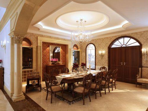 邛崃自建别墅餐厅新古典风格装修