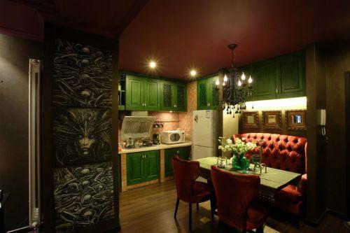 东南亚餐厅餐桌装修图片