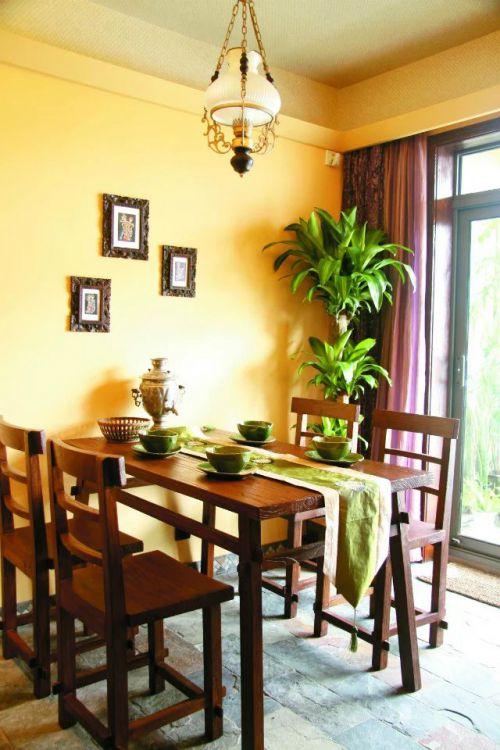 东南亚餐厅餐桌灯饰设计图片