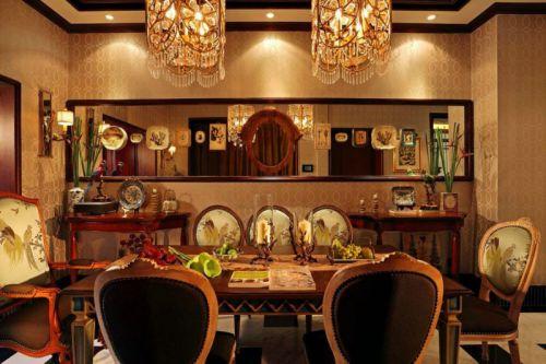 93平米新古典风格复式餐厅餐桌图片