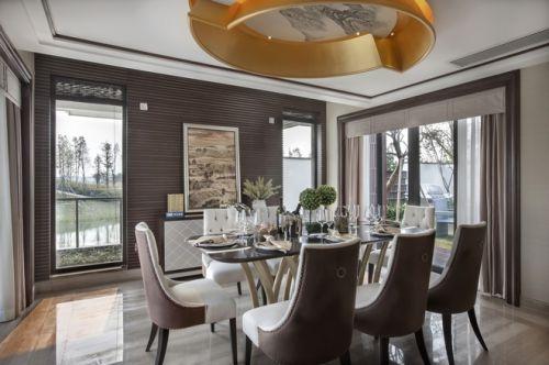 新古典时尚别墅餐厅餐桌效果图