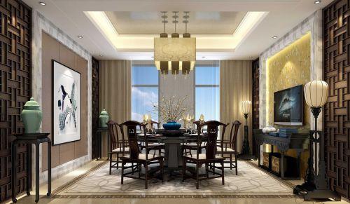 109平米东南亚风格餐厅吊顶设计
