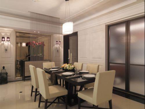 幽静新古典风格餐厅效果图