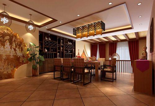 2015东南亚风格餐厅装潢效果图