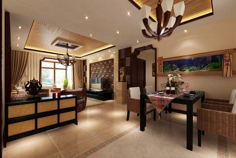东南亚风格装修餐厅效果图欣赏