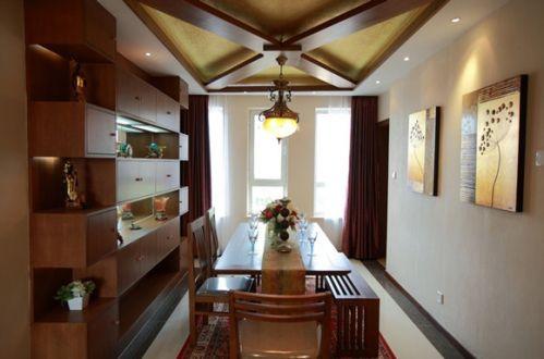 东南亚风情餐厅吊顶图片